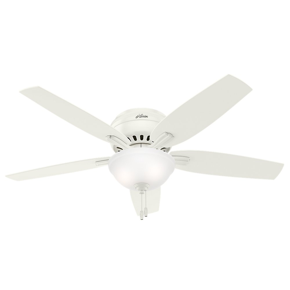 Hunter 53313 Newsome Ceiling Fan With Light 52 Large White Com