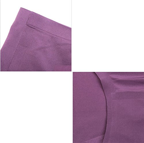 POKWAI Panty Mujer Triángulo De Tela Modal De Las Nalgas De Archivos Algodón De La Cintura Sin Rastro De 3 Paquetes A4