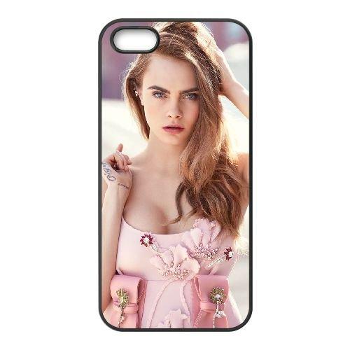 Cara Delevingne Vogue 2015 Mobile1 coque iPhone 5 5S cellulaire cas coque de téléphone cas téléphone cellulaire noir couvercle EOKXLLNCD22663