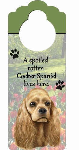 - Cocker Spaniel Wood Sign