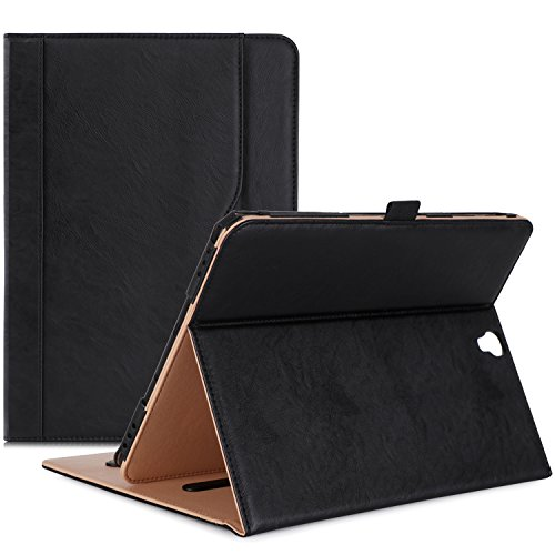 ProCase Samsung Galaxy Tab S3 9.7 Case, Stand Folio Case Cover for Galaxy Tab S3 Tablet ( 9.7 Inch, SM-T820 T825), with Multiple Viewing Angles, Document Card Pocket - Black