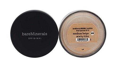 Bare Escentuals Face Care 0.28 Oz Bareminerals Original Spf 15 Foundation - # Medium Beige For (Bare Silk Mineral Makeup)