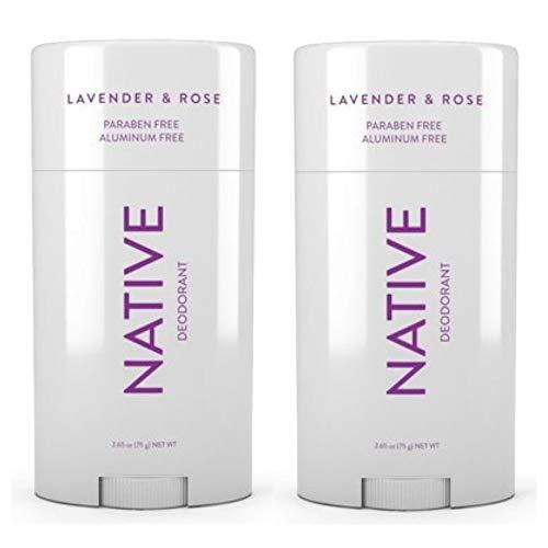 Native Deodorant Lavender & Rose 2.65oz (Lavander, 2 pack) ()