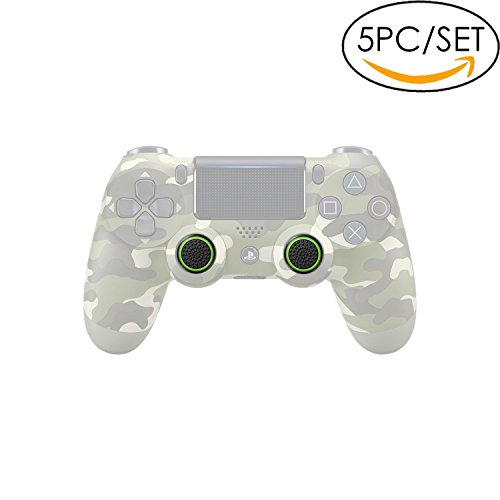 5x Analog Stick Joystick Controller Performance Thumb Grips for PS4, PS3, Xbox ONE, Xbox ONE S, Xbox 360, Wii U (Black/Green) (Xbox 360 Metal Dance Pad)