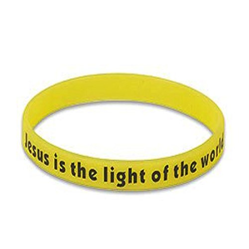 Jesus is the Light of the World Glow In Dark Yellow Neon Silicone (Christian Halloween Games)
