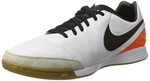 Nike Tiempox Mystic V Ic, Botas de Fútbol para Hombre Blanco (White / Black-Total Orange)