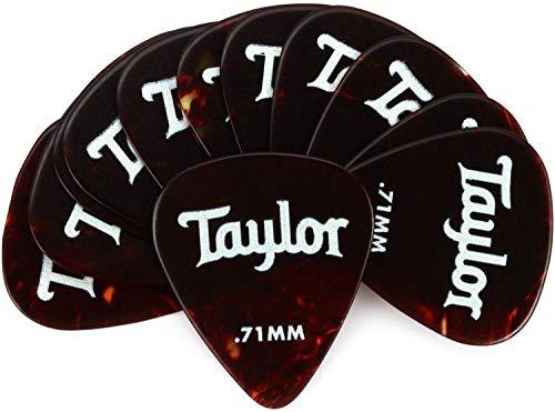 Taylor Celluloid 351 Guitar Picks 12-pack - Tortoise Shell .71mm