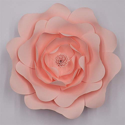 Wild World Decor Diy Large Rose Giant Paper Flowers For Wedding Backdrops Decorations Paper Crafts Baby Nursery Birthday Video Tutorials Tiffany 50cm