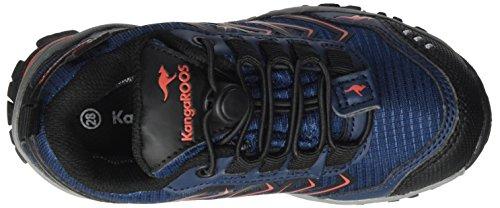 KangaROOS Molas, Zapatillas Unisex Niños Blau (K Blue/Fire)