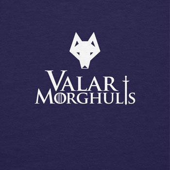 Texlab Got: Valar Morghulis - Damen T-Shirt, Größe XL, Navy