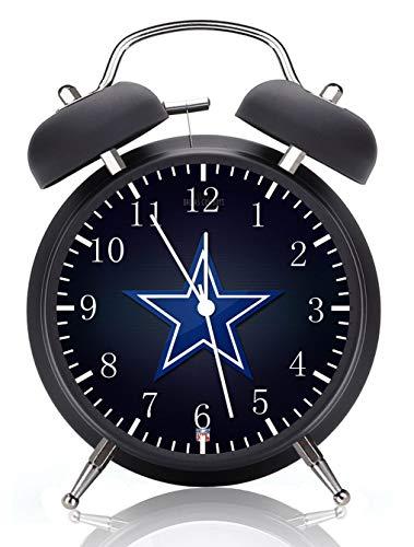 Cowboys Black Alarm Desk Clock 4