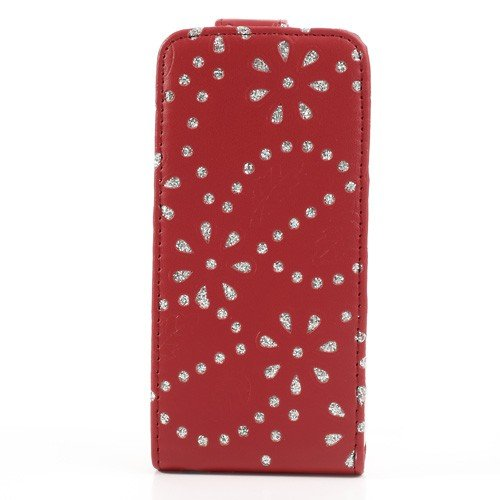 Schutzhülle Handy Case für Handy Apple iPhone 5c Strass Rot