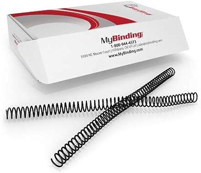 16mm Plastic Spiral Binding Coils 4:1 pitch Black Box of 100