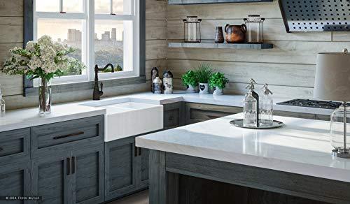 Farmhouse Kitchen LUXURY 33 inch Modern Farmhouse Ultra-Fine Fireclay Kitchen Sink in White, 50/50 Double Bowl, Flat Front, includes 2… farmhouse kitchen sinks