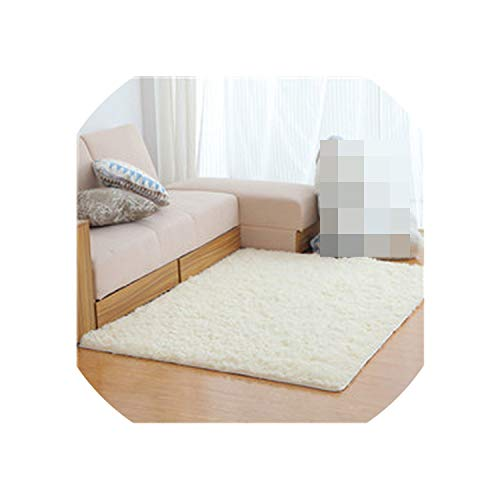Fur Carpet for Living Room Floor Bathroom Hallway 3D Rugs for Home Bedroom Sheepskin Moderns Super Soft Long Mat 2019,Code 4,80X200Cm