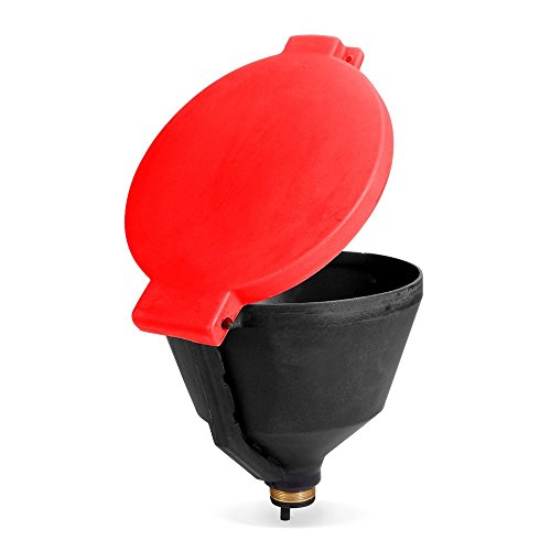 """New Pig Burpless Poly Drum Funnel, For 30 and 55 Gal Steel & Poly Drums w/ 2"""" NPT, Hinged Lid, 13.375"""" Diam x 11"""" H, Red, DRM680-RD by New Pig Corporation (Image #3)"""