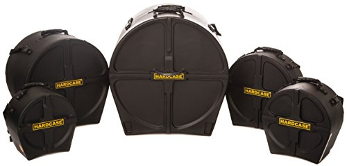 - HARDCASE HROCKFUS3 Drum Case Set for 'Rock/Fusion' Kits, 5 Pieces