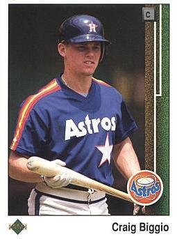1989 Upper Deck Baseball #273 Craig Biggio Rookie Card (Upper Set Deck Baseball)
