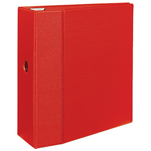 Avery Heavy-Duty Binder with 5-Inch One Touch EZD Ring, Red - Inch 5 Ezd Binder Ring