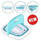 Heated Foot SPA Bath Tub - Collapsible Pedicure Jacuzzi Massager with...