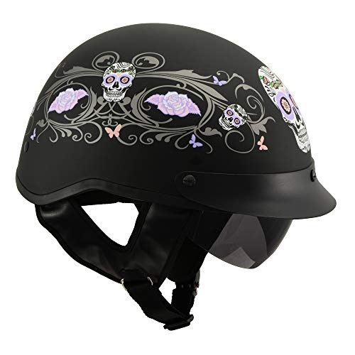 Milwaukee Performance Helmets Men's Size half helmet (MAT BLACK, M)]()