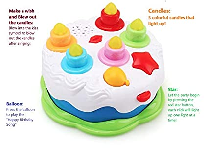 Image Unavailable Not Available For Color MeeYum Baby Toddler Musical Happy Birthday Cake Toy