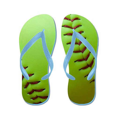 CafePress Optic Yellow Fastpitch Softball - Flip Flops, Funny Thong Sandals, Beach Sandals