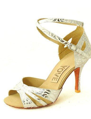 silver Heel Black Dance Black Customizable Shoes salsa Women's Latin Satin Customized Shangyi qv8z7Fxw