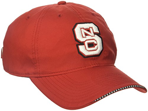 adidas NCAA North Carolina State Wolfpack Adult Men Coach's Adjustable Slouch Hat, One Size, Red