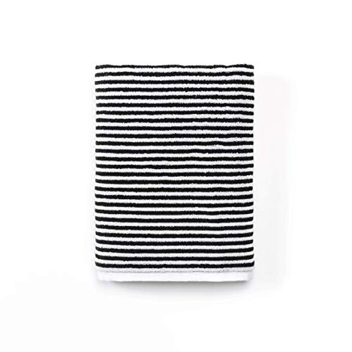 Calvin Klein Home Donald Bath Towel, White/Black