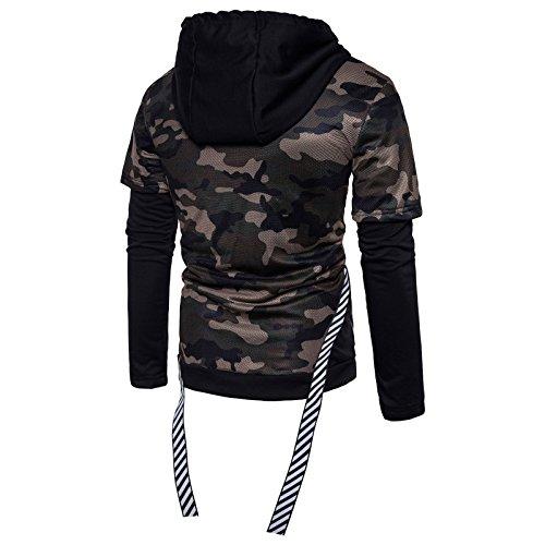 2 Camouflage Sweatershirt Capuche Wslcn Noir Zipper Pull De Militaire Cordon 1 Manche ball Basket Longue En Shirt Garçon Sweater Homme À Serrage 54pqpSP