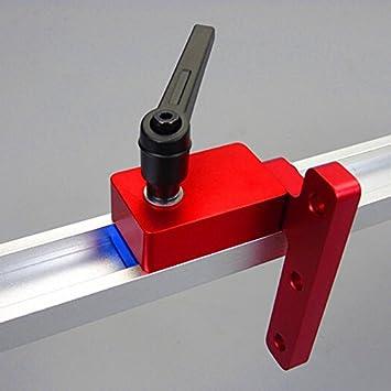 Handwerkzeuge Holzbearbeitung Rutsche T-Nut Gehrungsschiene Stop Limiter Neu