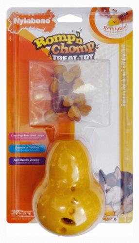 Nylabone Romp 'N Chomp Rubber Wobbler Treat Holder Chew with Treat, My Pet Supplies