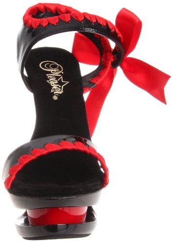Pleaser Blondie - Zapatos de vestir Mujer Negro - Noir (Noir/Rouge)
