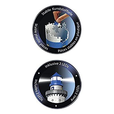 Ravensburger Lighthouse - Night Edition - 216 Piece 3D Jigsaw Puzzle for Kids and Adults - Easy Click Technology Means Pieces Fit Together Perfectly: Toys & Games