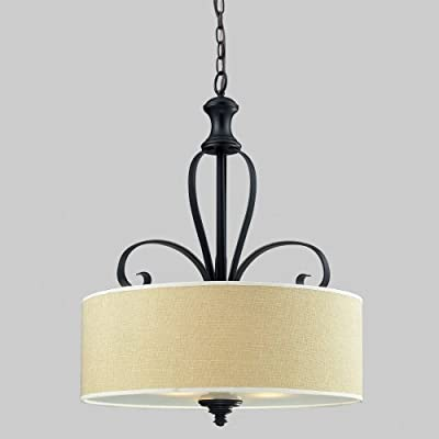 Z-Lite Charleston 2001P Pendant Light - 22.25W in. - Black