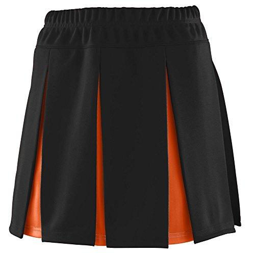 Augusta Sportswear Girls' Liberty Skirt XS Black/Orange