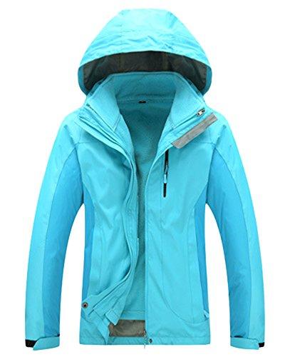 Jacket Waterproof Breathable Men's Women's in Hooded and Women 3 Warm ZongSen 1 Blue Outdoor Keep Lake fqpwy