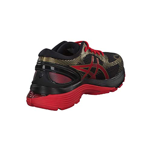ASICS Men's Running Shoes, Black (Black/Classic Red 001)