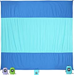 Our WEKAPO sand blanket is perfect for a day at the beach, park, or soccer field. While it is over sized for family use when you use it, it is also compact and lightweight when you are on the road. If you are taking the whole family to a beac...