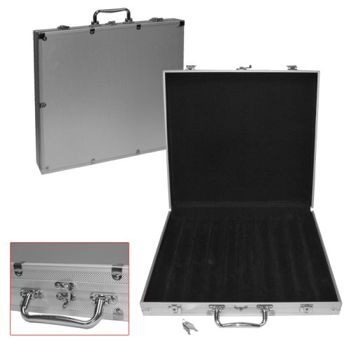 Deluxe Aluminum 1000 Chip Poker Case - Comes with Free Deck of Cards! by TMG