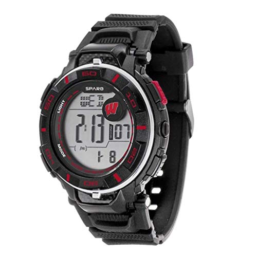 - Wisconsin Badgers NCAA Team Logo Power Watch with Digital Readout