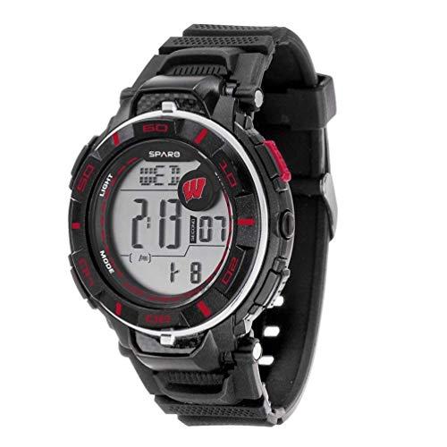 Wisconsin Badger Logo Watch - Wisconsin Badgers NCAA Team Logo Power Watch with Digital Readout