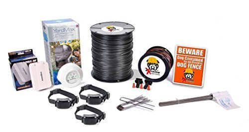 Cheap PetSafe YardMax Electric Dog Fence Containment System Professional Grade Complete DIY Installation Kit (4 to 6 Acres Coverage Area) (3 Dog Kit)