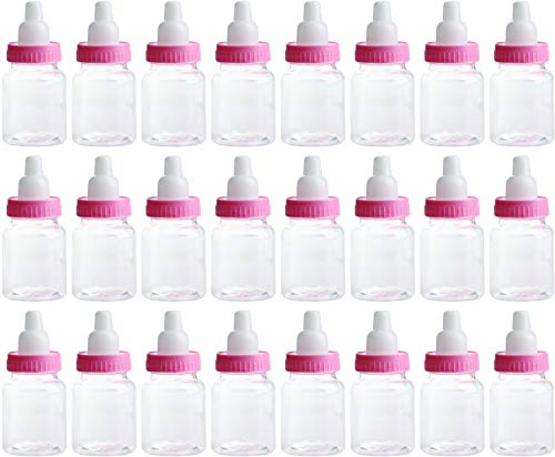 Charmed Baby Bottle Shower Favor,3-Inches, Pink (2 Dozen) ()