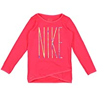 07441e74e2 NIKE Girl's Dry Sport Essentials Crossover Long Sleeve Shirt 4T Racer Pink