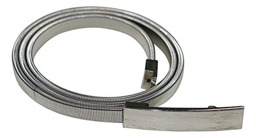 Style & co. Cobra Stretch Chain Belt in Silver (Medium/Large)