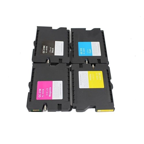 - YATUNINK(TM) 4PK Ink Cartridge for Ricoh GC21BK GC21C GC21M GC21Y 405536 405537 405538 405539 GX5050N GX7000
