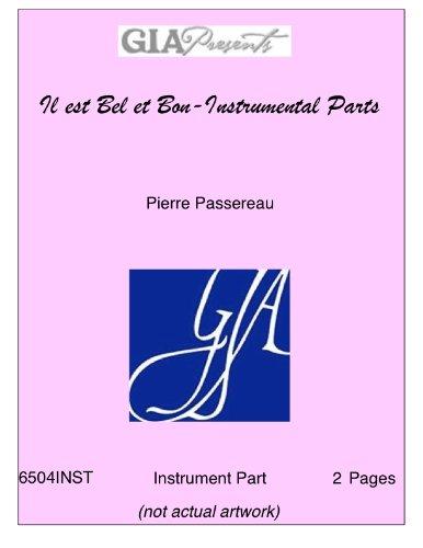 Il est Bel et Bon-Instrumental Parts - Pierre Passereau