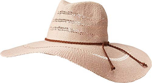San Diego Hat Company Women's PBF7340 - Large Brim Fedora with Braided Faux Suede Trim Blush One Size]()